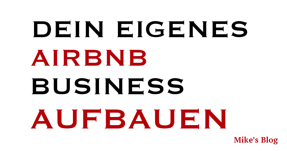 Airbnb Business aufbauen Anleitung.