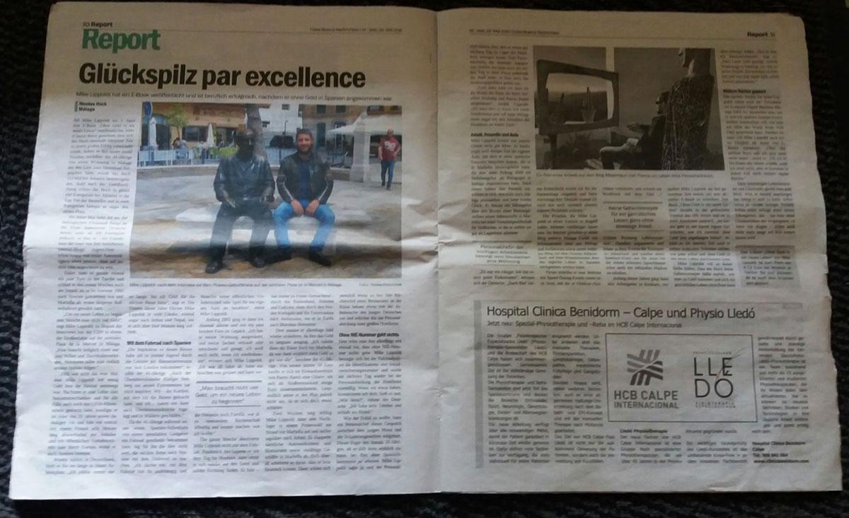 Mike Lippoldt Zeitung Costa Blanca Nachrichten